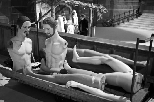 Nativity body parts at Liverpool Cathedral