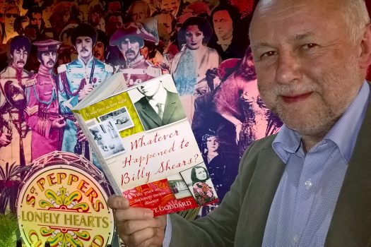 Photo of Steve Goddard with his book, Whatever Happened to Billy Shears?