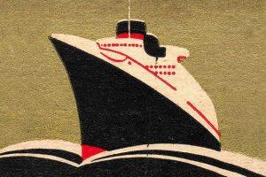 Illustration of ocean liner