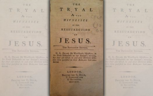Photo of the title page of The Tryal of the Witnesses of the Ressurection of Jesus by Thomas Sherlock